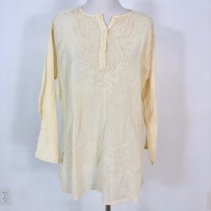 Vintage Cotton Tunic by ZAD - Free Size